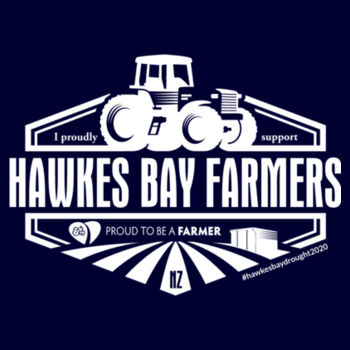 Hawkes Bay Supporters Mens Staple T  Design