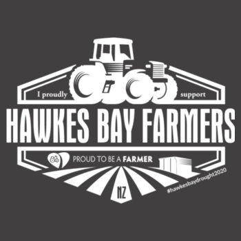 Hawkes Bay Supporters Mens Faded T-Shirt Design