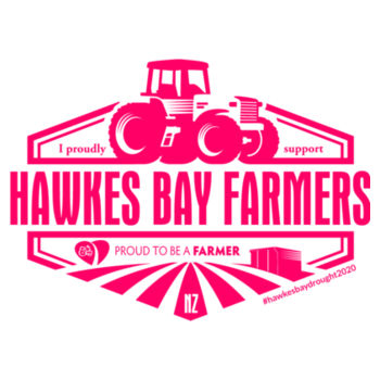 Hawkes Bay Farmers Womens Supporters Ringer T-Shirt Design